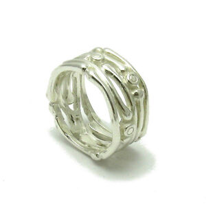 R001475 HANDMADE STERLING SILVER RING BAND SOLID 925 EMPRESS