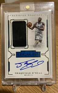 2015-16 National Treasures Lasting Legacies Shaquille O'Neal Jersey Auto-03/25!!
