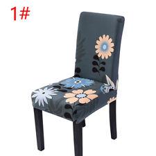 1Pcs стрейч обеденный стул крышки с цветочным принтом чехол сиденья чехлы домашнего декора