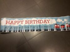 Birthday Sign. Happy Birthday: All Aboard The Party Express