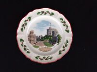Wedgwood England Christmas Holiday Queen's Ware Plate Windsor Castle 1980 First
