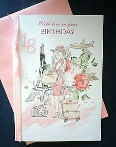 Personalised Female Birthday card ~ Paris ~ Any Age / Recipient ~ Hand made