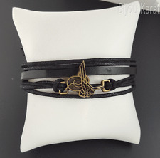 Ottoman Tugra Sultan Bracelet en cuir poignet AY YILDIZ femmes hommes unisexe