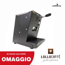 Macchina caffè cialde ese 44 mm piccola LOLLINA LOLLO NERA + REGALO  COFFEINA