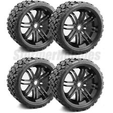 Sweep Terrain Crusher Belted Monster Truck Tires on Black Rims (4) SRC0002B