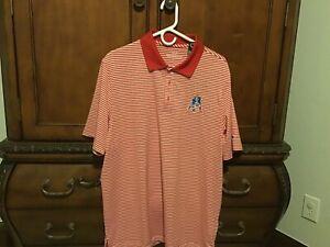 Mens Vineyard Vines New England Patriots Polo Shirt Size L Brand New Red Stripe