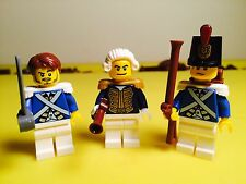 LEGO Pirates Lot of 3 Bluecoat mini figures Admiral Sergeant Solider 70413