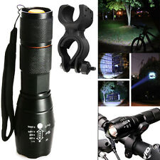 5000LM Zoom T6 LED 18650 Flashlight Focus Torch Bike Light+Cycle Clip G700 X800