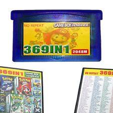 369 in 1 GBA Game Cartridge Für GBA SP NDS Gameboy Advance Videospiele Multicart
