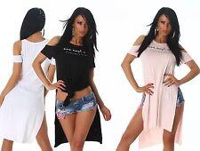 Figurbetonte Damenblusen,-Tops & -Shirts im Trägertops-Stil ohne Muster für Freizeit