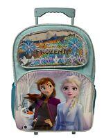 """Disney Frozen 2 Elsa & Anna 16"""" Large Rolling/Roller Backpack"""