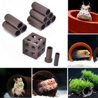 19 Styles Aquarium Tank Tube Breeding Hiding Cave Shelter Fish Shrimp Live Plant