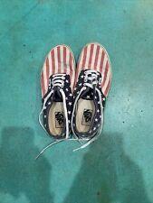 New listing Vans American Flag Stars & Stripes Van Doren Shoes Men Sz 9.5 Canvas Usa Rare