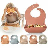 Silicone Breastplate Baby Bib Waterproof Solid Infant Bandana Easy To Clean Bibs