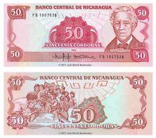 Nicaragua 50 Cordobas 1985 (1988) P-153 Banknotes UNC