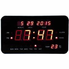 Sveglia Digitale Elettrica Orologio Luce Led con Data Giorno Temperatura