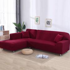 2pcs Sofabezug stretch elastische Sofahusse Abdeckung Für L Form Schnittsofa #R
