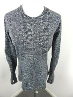 LULULEMON Pullover Heathered Black Pattern Crew Neck Long Sleeve Top Size 10