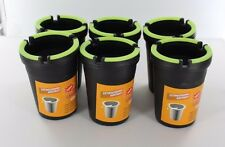 6 X Glow in the Dark Cup Style Car Auto Self Extinguishing Ashtray Cup Holder