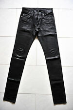 "DIOR HOMME Black Waxed Jeans ""Holy Night""  29 30 31 32 Pants Saint Laurent"
