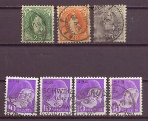 Switzerland, Helvetia & Nun - Numbered Franchise Stamps, Used, 1890s, 1935 OLD