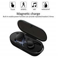 Wireless Bluetooth Headphones Waterproof Earphone Headset Sports Earbud TWS-03 Y