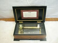 Thorens Swiss Wooden Music Box Jewelry Mozart Beethoven Schubert 6 Tune Song