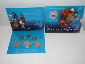 2003 Australian Uncirculated Mint Coin sets Australia's Volunteers six Coin Set