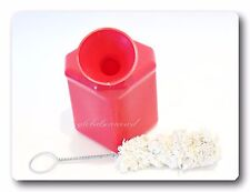 Angled Top Lube Bucket Bottle Side Mount Bracket with Lube Cotton Swab