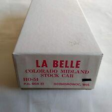 HO SCALE LA BELLE HO-54 COLORADO MIDLAND PALACE STOCK CAR MODEL KIT