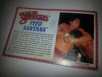 BIO-CARD Tito Santana WWF LJN RUBBER Wrestling Superstars