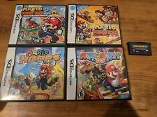 Nintendo DS + GBA Mario Game Lot - Mario vs Donkey Kong, Hoops, Party DS Mint