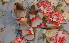 089700303471 missoni shoes sandals wedges size 10 brand new leather lining canvas