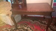 Queens Ann square dining antique style table and 4 queens ann chairs replica