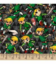 Legend of Zelda ~ Sword and Shield FLANNEL Fabric by the YARD