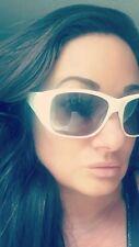 Chanel White acetate pearl interlocking CC sunglasses 100% Authentic