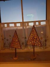 Weinachtsbäme Tannenbäme Schneebäme Christbäume 2x 55cm und 46cm Handarbeit!