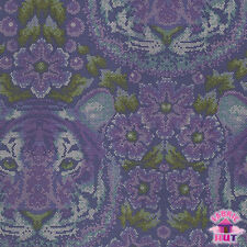 Tula Pink Eden Crouching Tiger Amethyst Cotton Fabric by the Yard Free Spirit