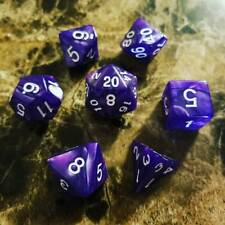 Purple Pearl Dice Set Polyhedral DND Dungeons and Dragons Pathfinder