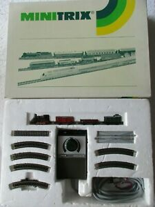 Minitrix 11033 Spur N Start-Set zum Anfangen Güterzug gebraucht