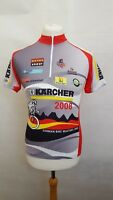 GERMAN BIKE MASTERS 2008 CYCLING JERSEY TOP SIZE S SMALL SHORT SLEEVE - RED GREY