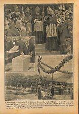 Monument aux Américains Pointe de Grave Raymond Poincaré WWI 1919 ILLUSTRATION