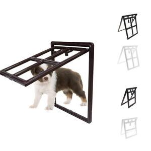 Pet Dog Door for Screens Two-Way Self-Locking Screen Dog Door