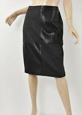 IVANKA TRUMP Black & Gray Patchwork Faux Leather WONDERLAND Pencil Skirt M 10