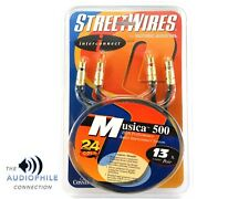 STREETWIRES ESOTERIC AUDIO MUSICA 500 HIGH END 13 FEET RCA INTERCONNECT CABLES