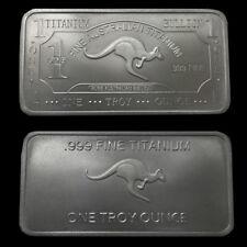 1 Unze Känguru Titanbarren - 1oz Troy Unzen Titan Barren oz 999,9 Kangaroo NEU!