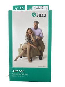 Juzo Soft 20-30 Compression Knee High Stockings BLACK 2001 AD FF Sz III Socks