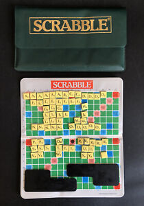 1988 TRAVEL SCRABBLE Spare/Replacement Magnetic Board, Letters, Racks & Pouch