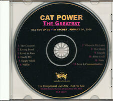 Cat Power The Greatest RARE promo advance CD '06 (never played)