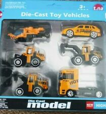 Die Cast Toy Cars Mixed Lot Construction Trucks Equipment Vehicles 1:64 Lot of 6